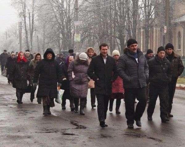 """Фото із """"Фейсбуку"""" київського громадського діяча Богдана Хмельницького, який активно допомагав розсішцям добиватися правди у столиці"""