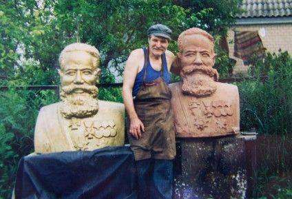 Робота над пам'ятником дворянину Ерасту Бродському, 1999 рік