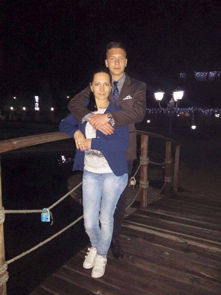 Людмила Слабенко із сином Ігорем
