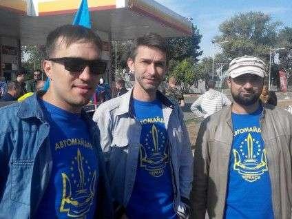 черкаський Автомайдан на акції протесту у Одесі