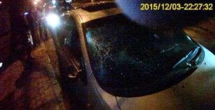 Авто, яке збило дівчину. Фото надано сектором комунікації ГУ Нацполіції у Черкаській області