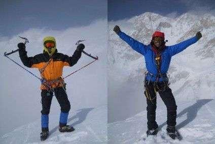 Балабанов і Фомін на вершині гори Талунг
