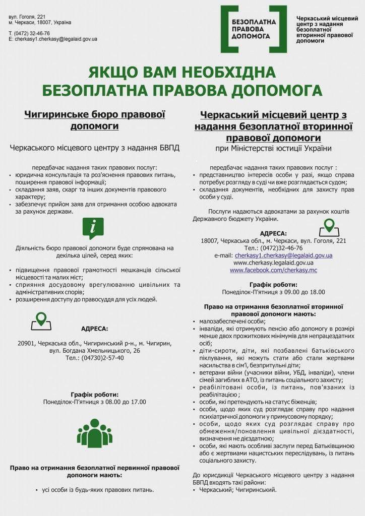 Оголошення Чигирин-Черкаси колір