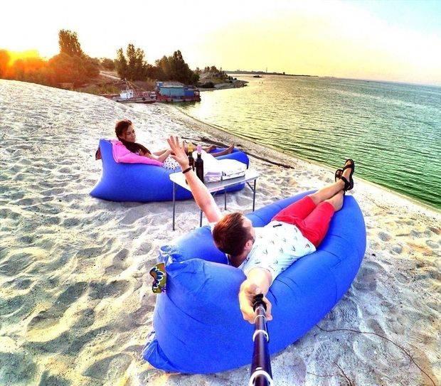 На пляжі. Фото @mc_zborovskiy