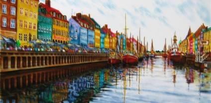 """Картина """"Nyhavn-2"""" Denmark/Данія"""