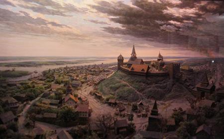 Діорама у Черкаському обласному краєзнавчому музеї