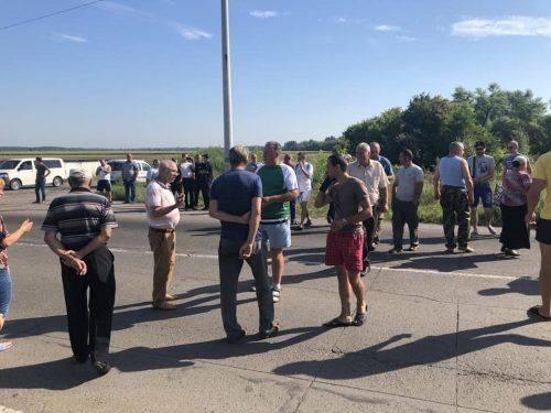 На Черкащині перекрили рух транспорту через Вільшанку (фото)