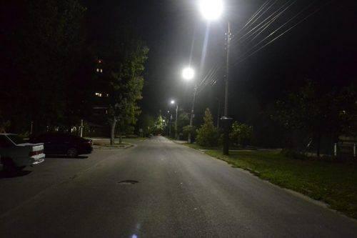 На одній із вулиць Черкас встановили нове освітлення