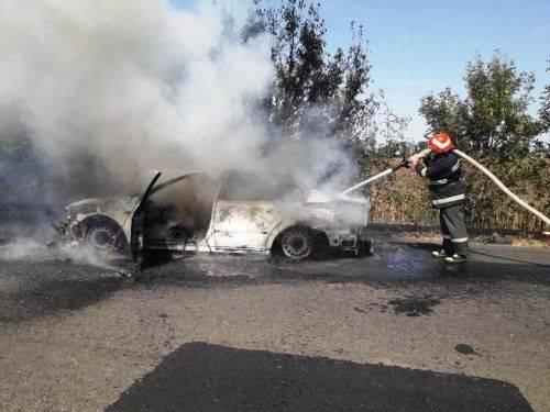 На Золотоніщині через замикання електропроводки згоріла автівка