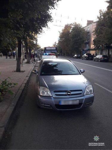 Черкаські поліцейські затримали п'яного водія-втікача (фото)