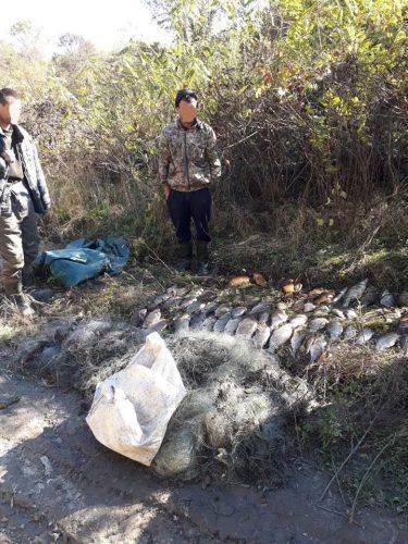На Черкащині затримали браконьєрів, які виловили 80 кг риби (фото)