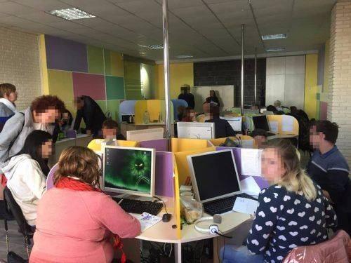 У Черкасах виявлено роботу call-центру, який працює на російський банк