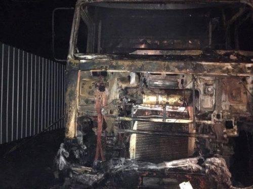 На Черкащині через згубну звичку водій згорів у власній вантажівці