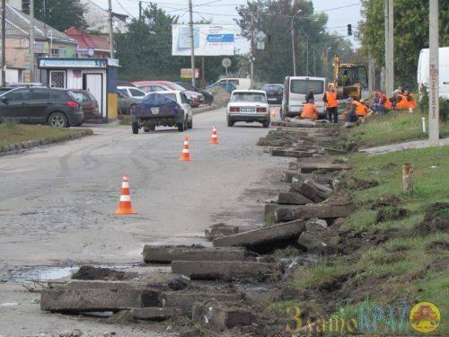 На одній із вулиць Золотоноші розпочали ремонт дороги (фото)