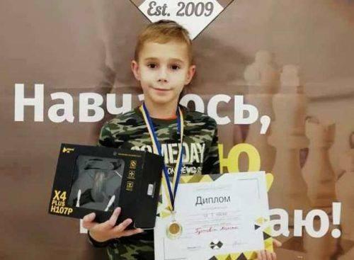 Маленький черкащанин переміг на шаховому турнірі у Києві