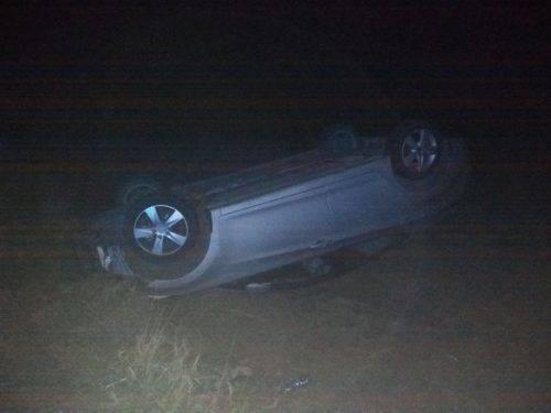 "На Черкащині автівка ""Hyundai Elantra"" злетіла в кювет"