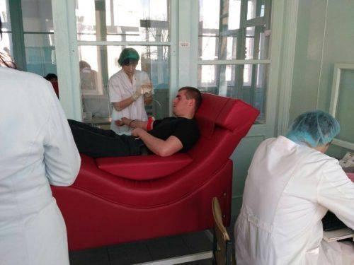 Патрульні Черкас добровільно стали донорами крові