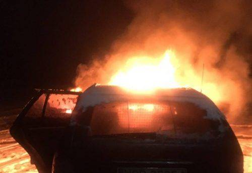 На Черкащині згоріли два автомобілі