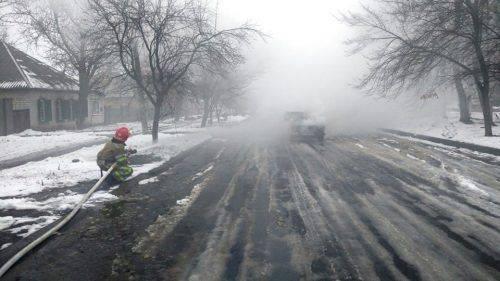 На Черкащині через коротке замикання проводки згорів автомобіль