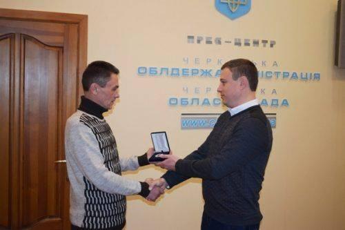 Керівництво Черкаської області нагородило бійця АТО зі Шполянщини
