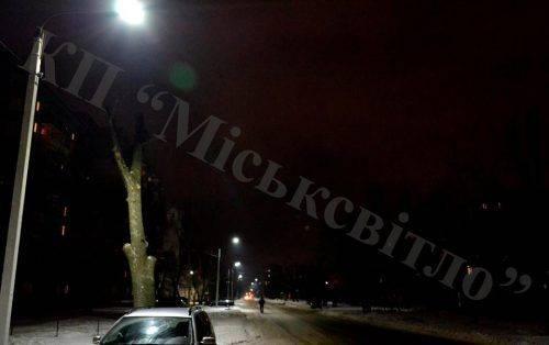 Одна із вулиць Черкас отримала нове освітлення