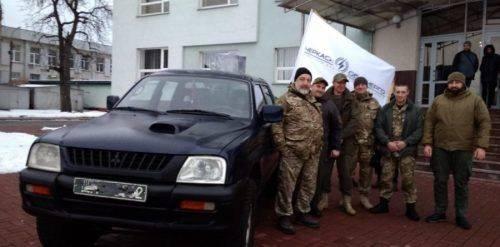 Черкаські енергетики відправили на передову бойовий автомобіль (відео)