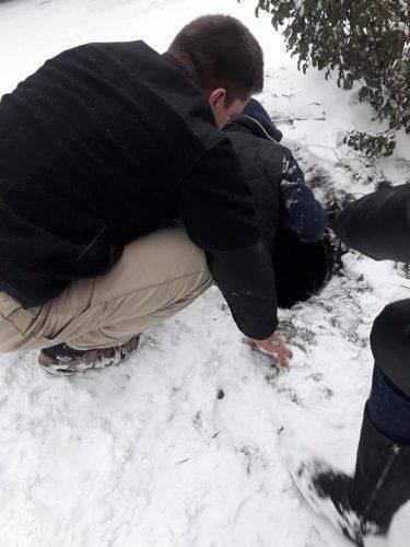 На Черкащині врятували цуценя, яке провалилося до ями (фото)