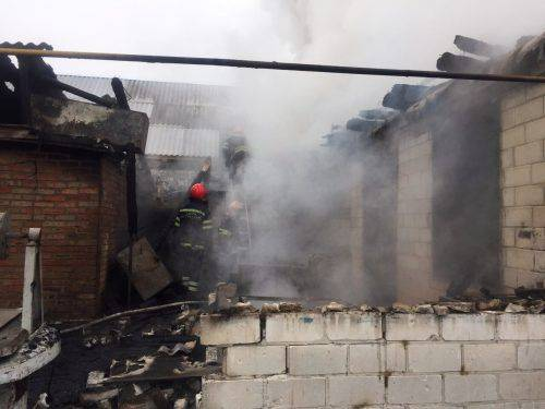 На Черкащині через пожежу загинув пенсіонер (відео)