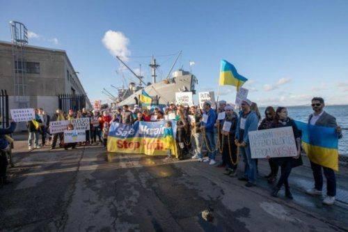 Представники української діаспори в США провели акцію на підтримку захоплених Росією моряків