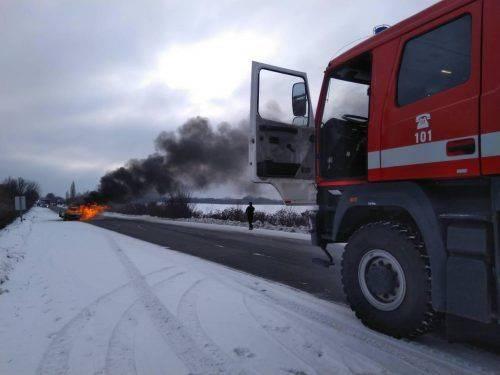 На Черкащині загорілася  автівка (фото)
