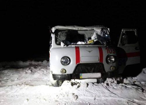 На Черкащині перекинулось авто медичної допомоги