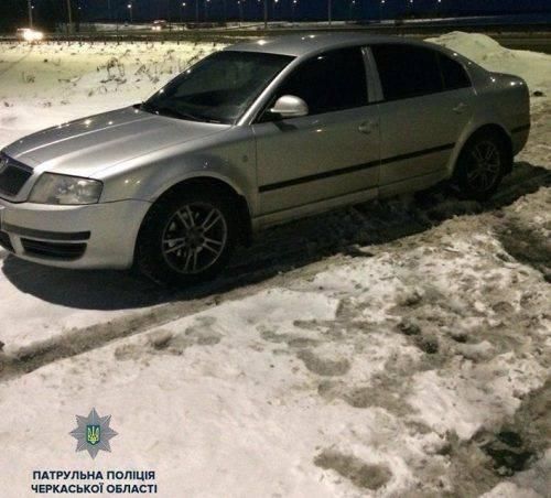 На Черкащині затримали автівку, яку розшукувала поліція іншої області