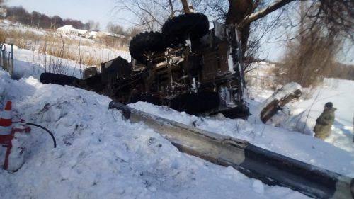 На Черкащині перекинулася вантажівка з боєприпасами