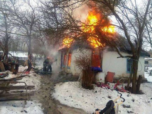 На Черкащині горів житловий будинок (фото)