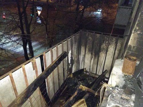 У Черкасах невідомий спричинив пожежу на балконі