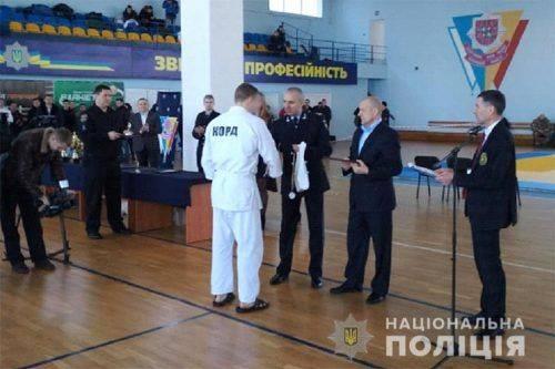 Поліцейський з Черкащини посів перше місце у чемпіонаті з рукопашного бою