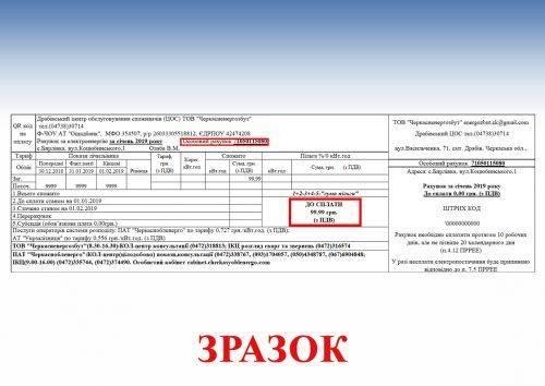 Головне – правильно оплатити рахунки: черкащанам розповіли, що зміниться у платіжках за електроенергію