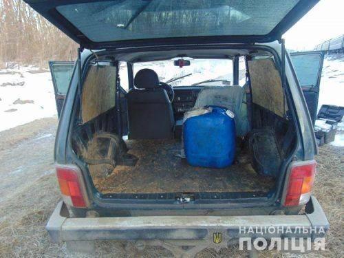 На Черкащині викрили чоловіків, які вчиняли крадіжки дизпалива з потягів(фото)