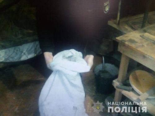 На Черкащині в чоловіка знайшли мішок коноплі (фото)