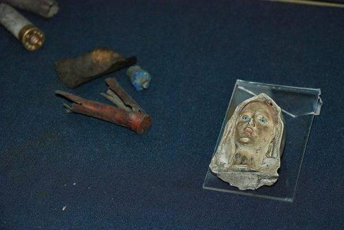 У черкаському музеї зберігається уламок статуетки Діви Марії, який містянин знайшов після штурму Майдану
