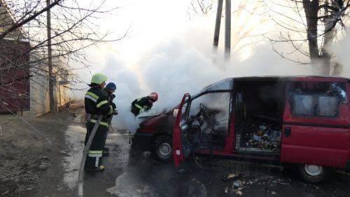 На Черкащині горів автомобіль (фото)