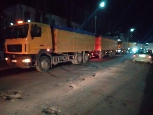 На Черкащині водії блокували рух вантажівок (відео)
