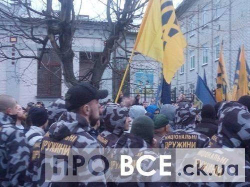 «Прийняли жорстоко»: активістів Нацкорусу, які брали участь у сутичках в Черкасах, затримали