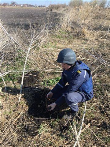 Черкащанин у себе на городі знайшов міну часів війни (фото)