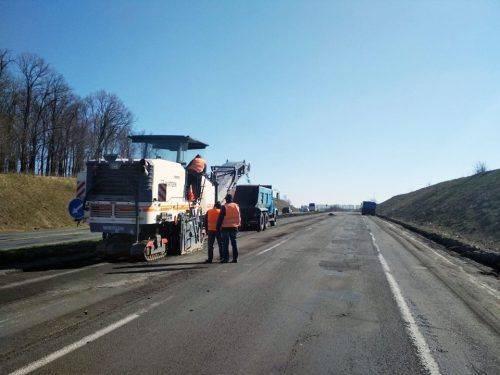 На Черкащині почали ремонтувати дорогу міжнародного значення (фото)