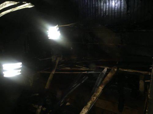 Залишив піч без нагляду: На Черкащині горіла лазня (фото)