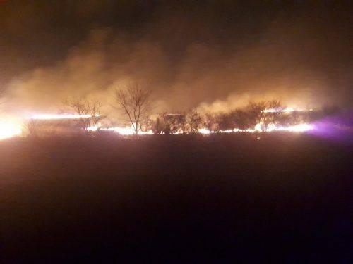На Черкащині ледь не згоріло село (фото)