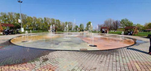 У Черкасах запрацював пішохідний фонтан