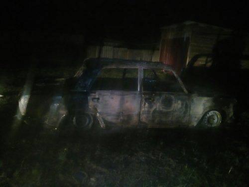 За добу на Черкащині вщент згоріли два авто імовірно через підпал (фото)