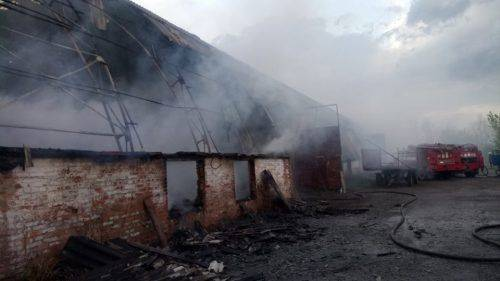 На Черкащині блискавка спричинила пожежу (фото)